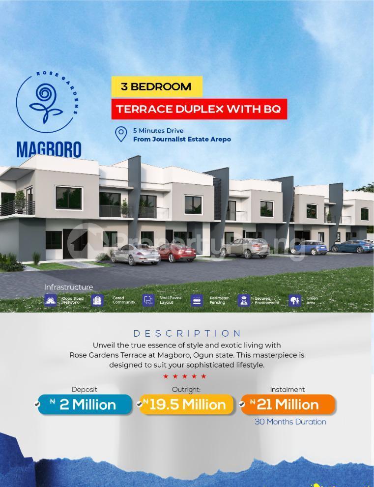 4 bedroom Terraced Duplex for sale Magboro Obafemi Owode Ogun - 2