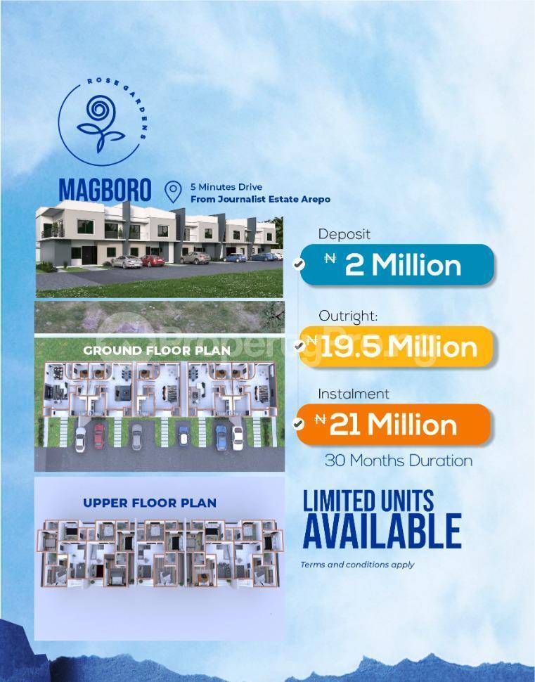 4 bedroom Terraced Duplex for sale Magboro Obafemi Owode Ogun - 1