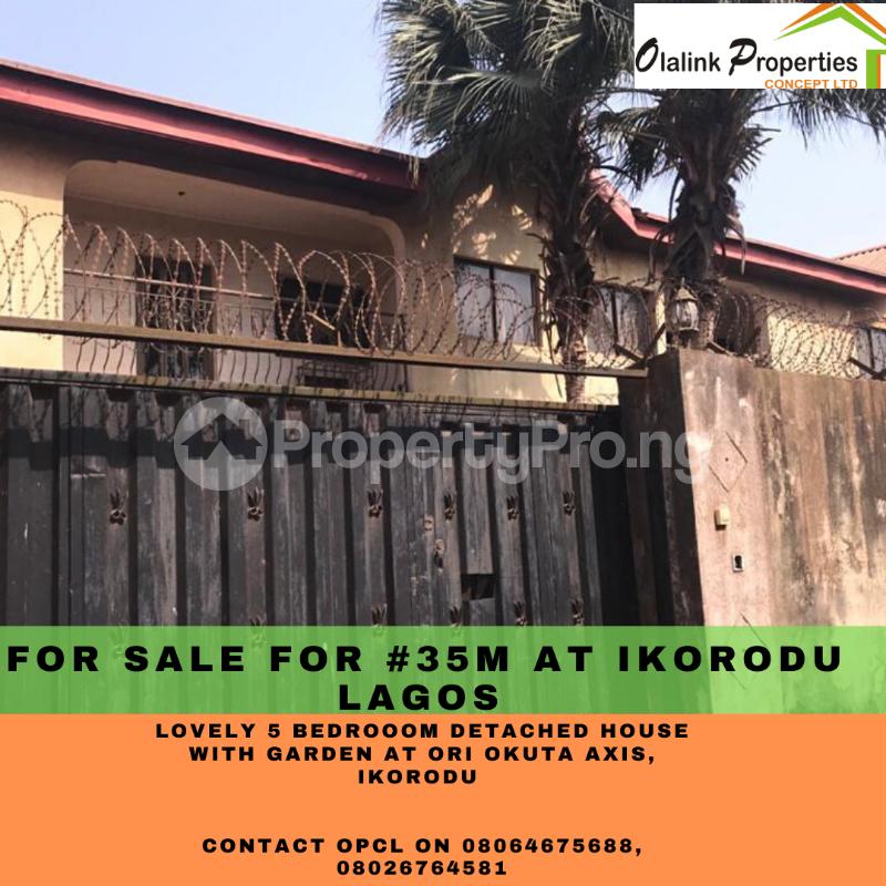 5 bedroom Detached Duplex for sale Ori Okuta Axis Ikorodu Lagos - 1