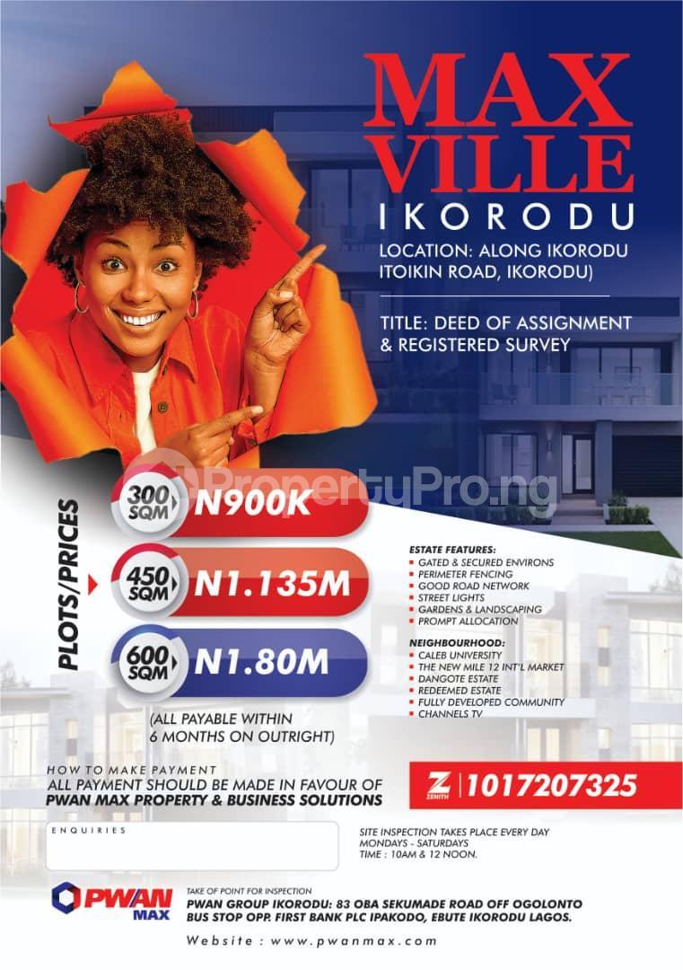 Land for sale Itokin Road Ikorodu Maya Ikorodu Lagos - 0