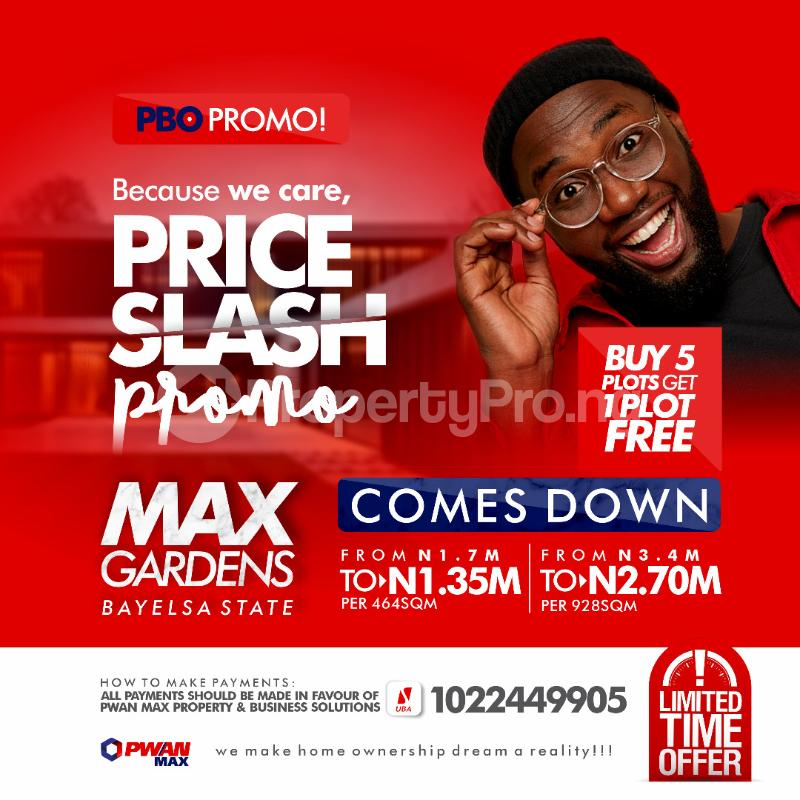 Mixed   Use Land for sale Along The New Duel Carriage Road That Lead To Federal University Of Bayelsa State Brass Bayelsa - 0