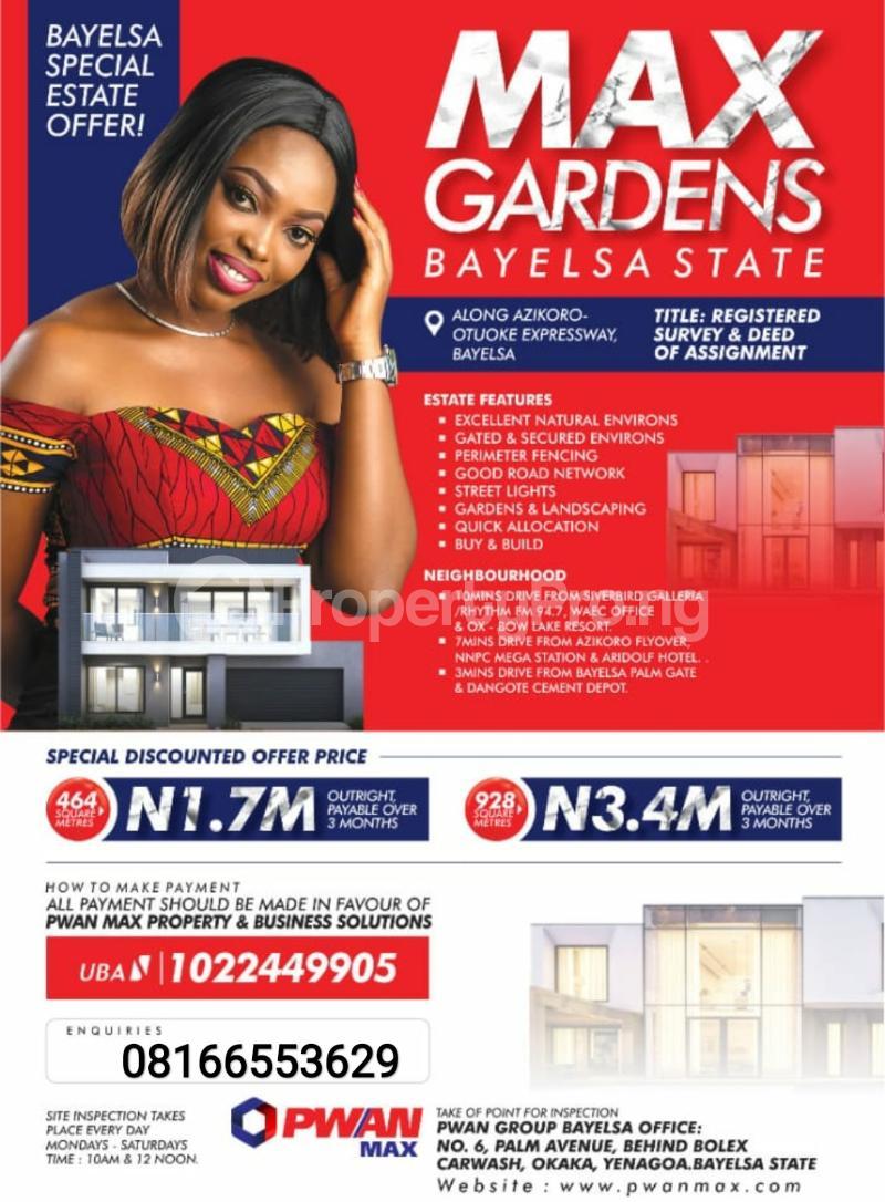 Serviced Residential Land Land for sale Yenegoa Bayelsa - 1