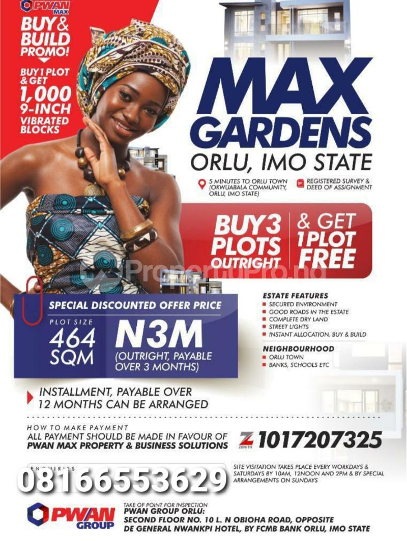 Serviced Residential Land Land for sale Orlu Imo - 1