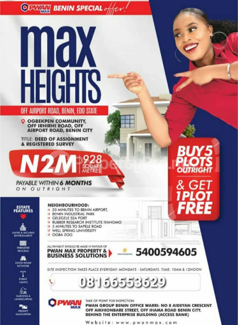 Mixed   Use Land for sale Airport Road Benin Central Edo - 1