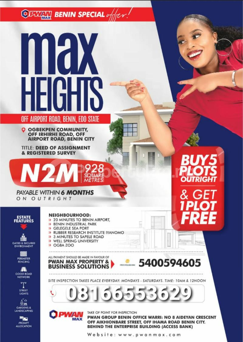 Mixed   Use Land for sale Central Edo - 0