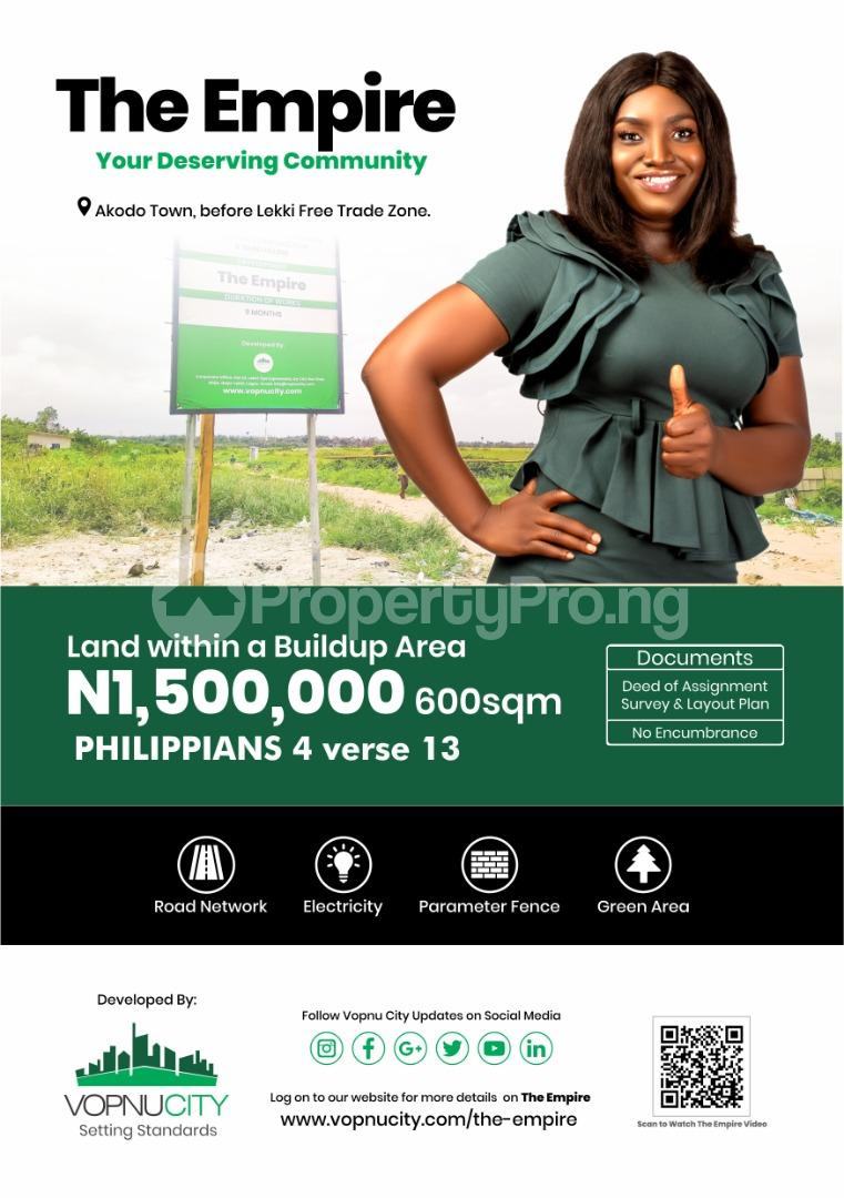 Serviced Residential Land Land for sale The Empire Estate Before Lekki Free Trade Zone Akodo Ise Ibeju-Lekki Lagos - 0