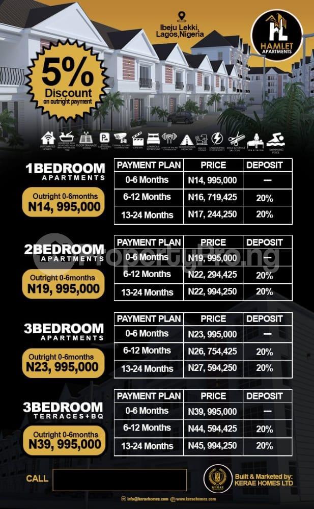 3 bedroom Flat / Apartment for sale Lekki Seaport, Dangote Refinery, Eleko Beach, Chaka Resort, Proposed International Airport Free Trade Zone Ibeju-Lekki Lagos - 1
