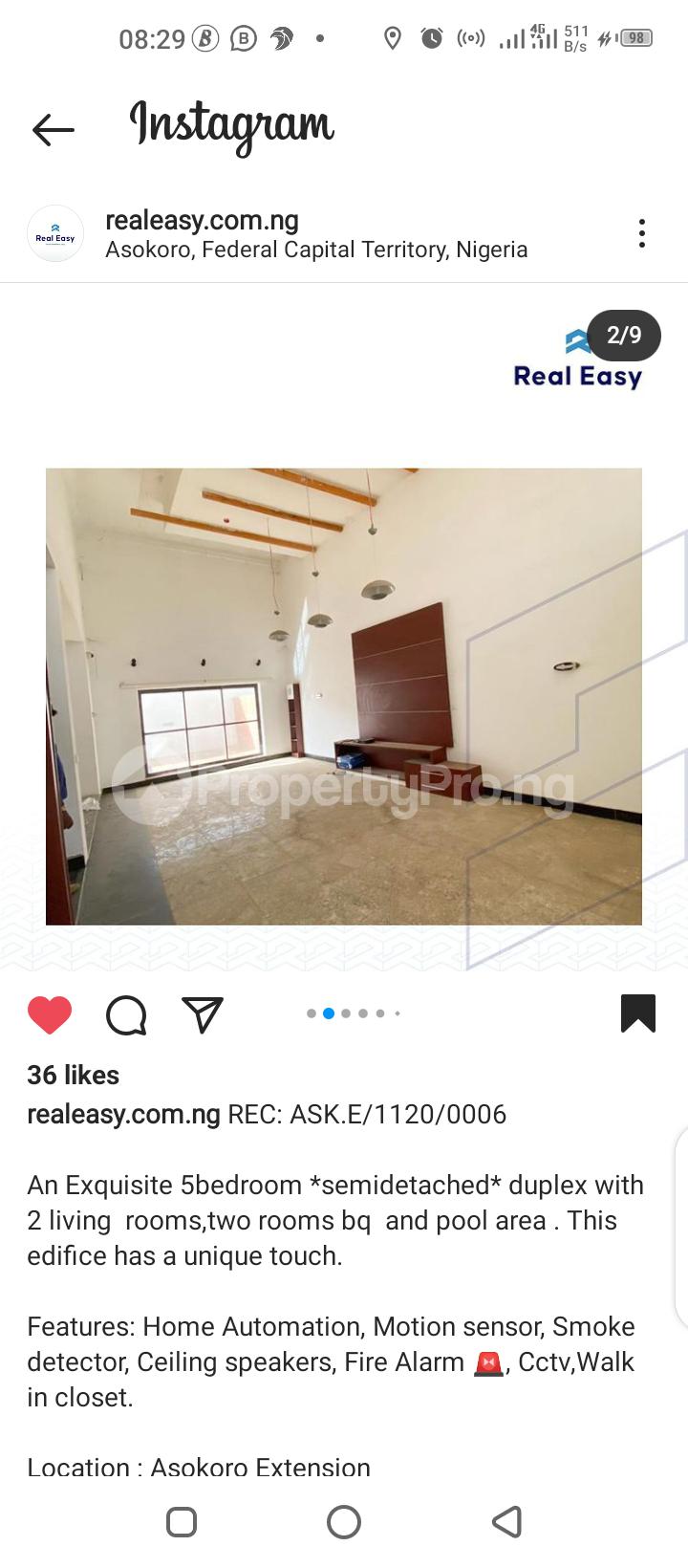 5 bedroom Semi Detached Duplex for sale Asokoro Abuja - 8