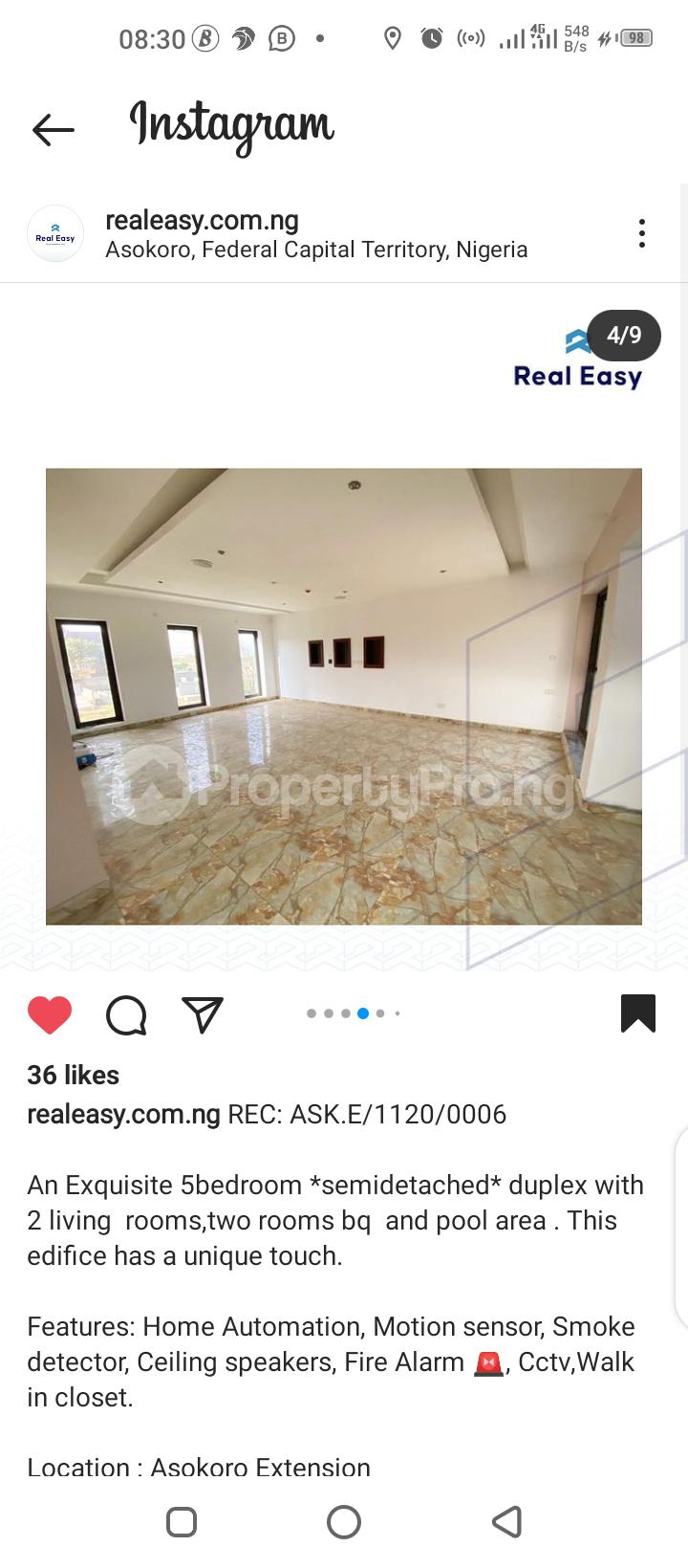 5 bedroom Semi Detached Duplex for sale Asokoro Abuja - 6
