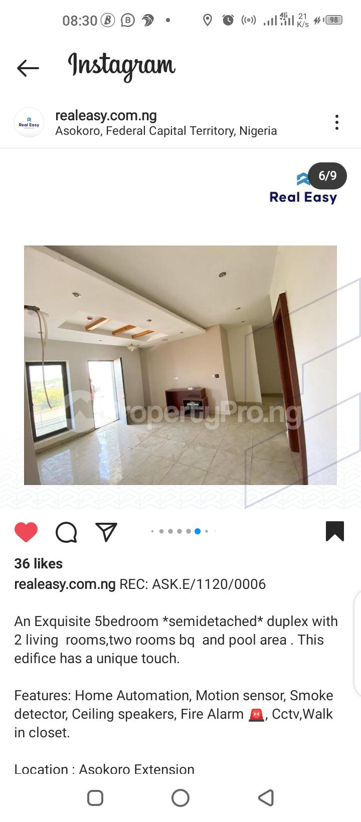 5 bedroom Semi Detached Duplex for sale Asokoro Abuja - 4