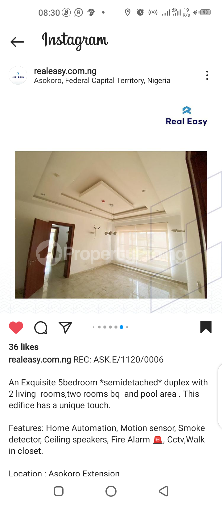 5 bedroom Semi Detached Duplex for sale Asokoro Abuja - 2