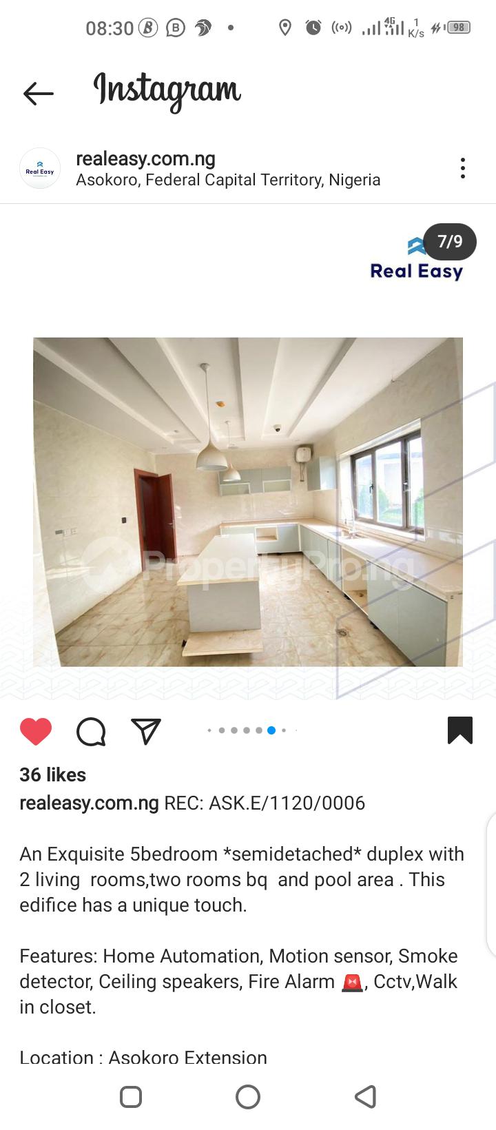 5 bedroom Semi Detached Duplex for sale Asokoro Abuja - 3