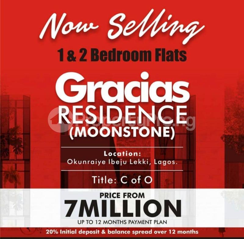 2 bedroom Self Contain Flat / Apartment for sale Moonstone Estate, Gracias Residences,Okunraiye Town, Ibeju Lekki,Lagos Okunraiye Ibeju-Lekki Lagos - 0