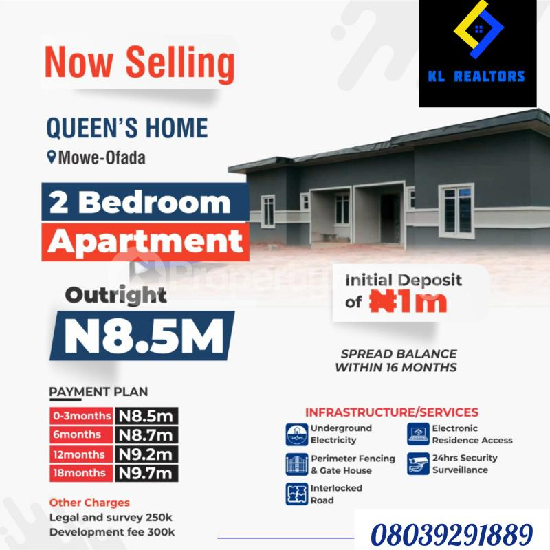 2 bedroom Semi Detached Bungalow House for sale Mowe Ofada Arepo Arepo Ogun - 0