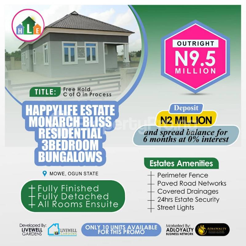 3 bedroom Detached Bungalow for sale Opposite Christopher University Mowe Obafemi Owode Ogun - 3