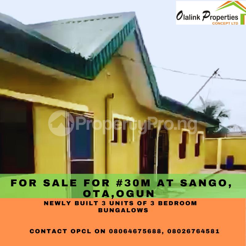 3 bedroom Semi Detached Bungalow for sale Sango Ota, Ogun State Sango Ota Ado Odo/Ota Ogun - 0
