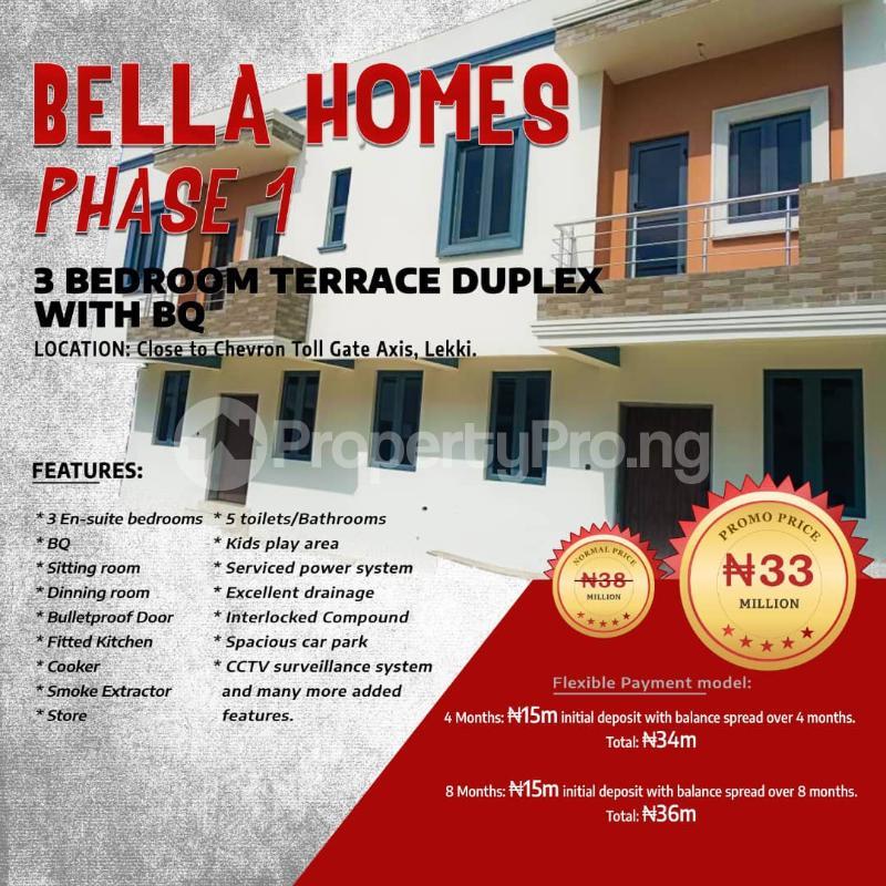 3 bedroom Terraced Duplex for sale Cheveron Toll Gate Axis Lekki chevron Lekki Lagos - 1