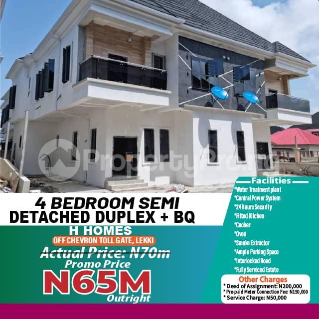 Semi Detached Duplex House for sale H HOMES OFF CHEVRON TOLL GATE  chevron Lekki Lagos - 20