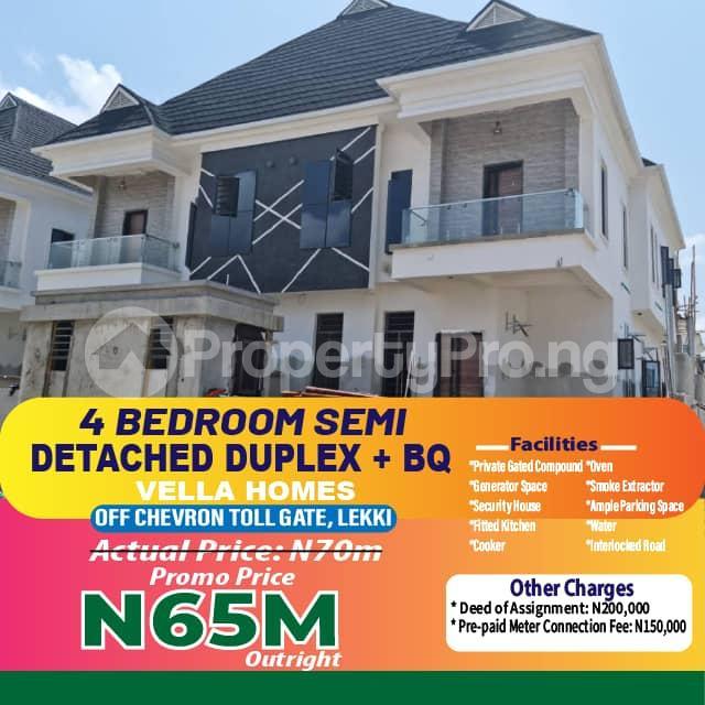 4 bedroom Semi Detached Duplex for sale Off Chevron Toll Gate chevron Lekki Lagos - 14