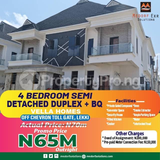 4 bedroom Semi Detached Duplex for sale Off Chevron Toll Gate chevron Lekki Lagos - 13