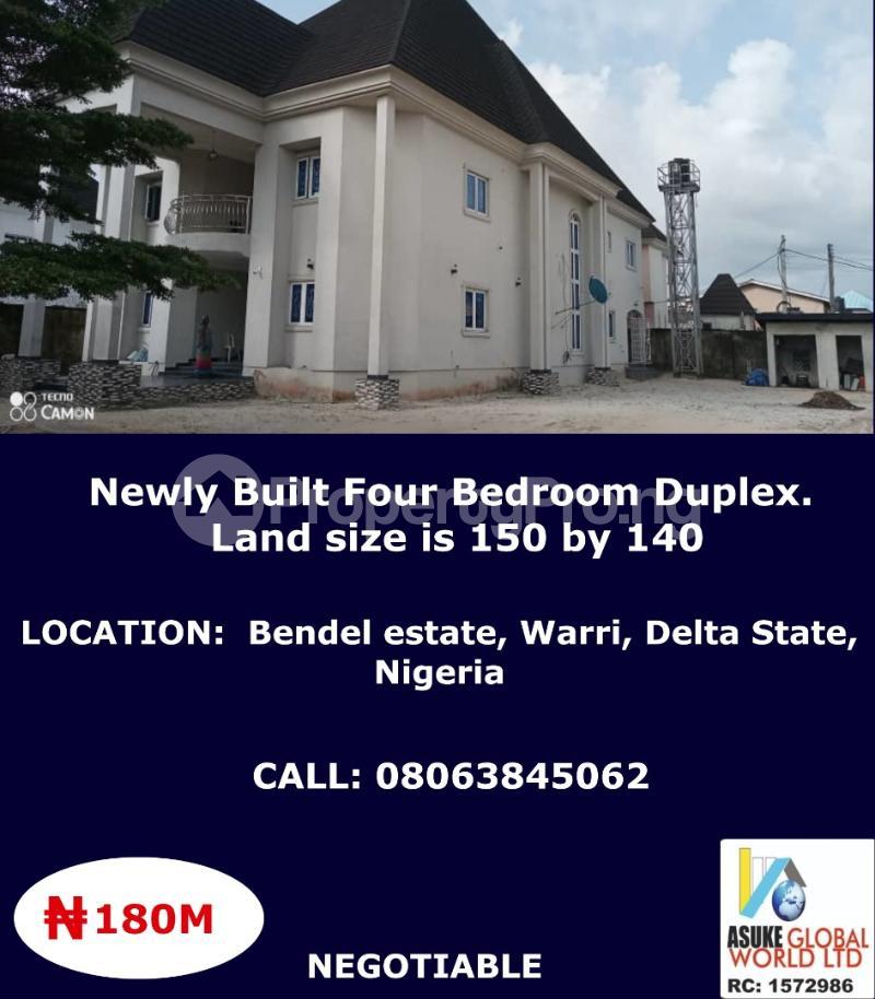 4 bedroom Detached Duplex for sale Bendel Estate Warri Delta State Warri Delta - 0