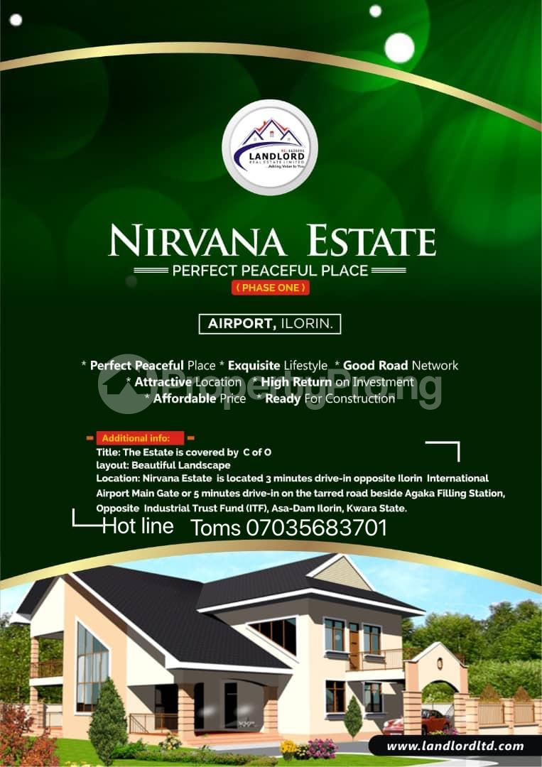 Commercial Property for sale Nirvana Estate Is Located 3 Minutes Drive In Opposite Ilorin International Airport Main Gate Or 5 Minutes Drive In On The Tarred Road Beside Agaka Filling Station, Opposite Industrial Trust Fund (itf), Asa Dam Ilorin, Kwara State. Ilorin Kwara - 0