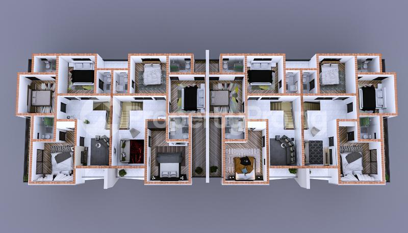 4 bedroom Terraced Duplex House for sale Christ Embassy road Aseese, Ogun state. Ibafo Obafemi Owode Ogun - 2