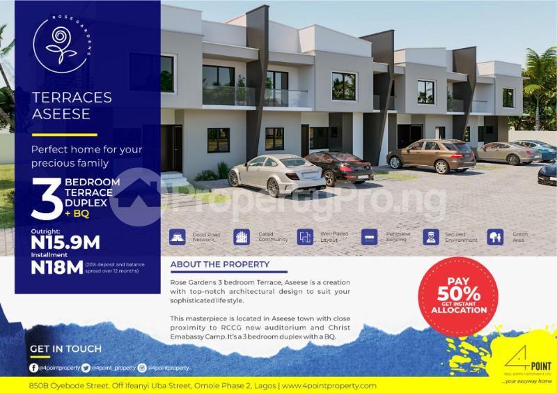 4 bedroom Terraced Duplex House for sale Christ Embassy road Aseese, Ogun state. Ibafo Obafemi Owode Ogun - 4