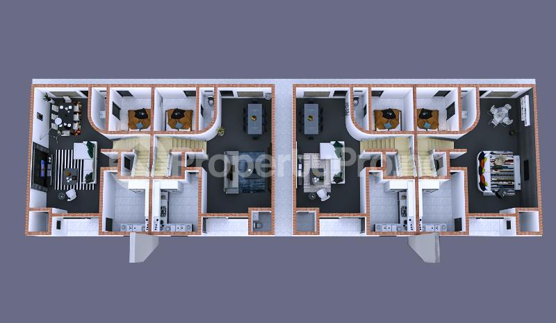 4 bedroom Terraced Duplex House for sale Christ Embassy road Aseese, Ogun state. Ibafo Obafemi Owode Ogun - 3