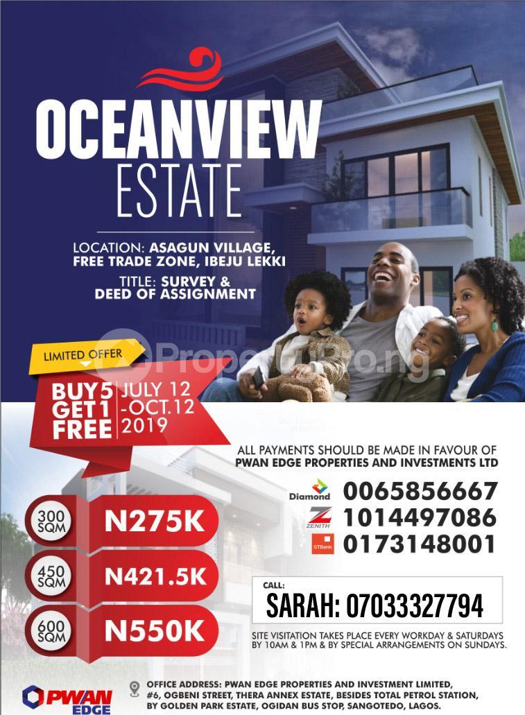 Mixed   Use Land Land for sale Ashagun, Igbogun road LaCampaigne Tropicana Ibeju-Lekki Lagos - 0