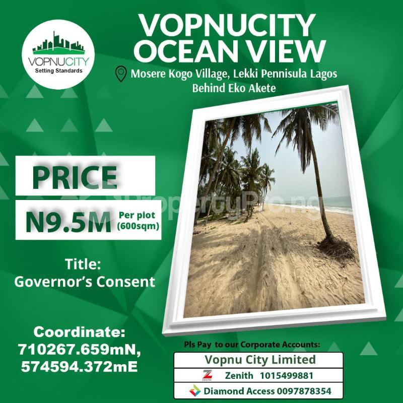 Mixed   Use Land for sale Bonponucity, Mosere By Kogo Village Eko Akete By Corona International School Abijo Iberekodo Ibeju-Lekki Lagos - 1