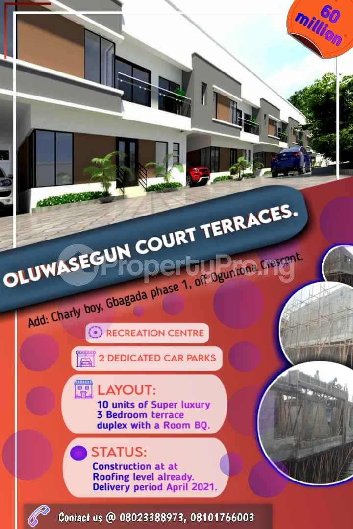 3 bedroom Terraced Duplex for sale . Phase 1 Gbagada Lagos - 0