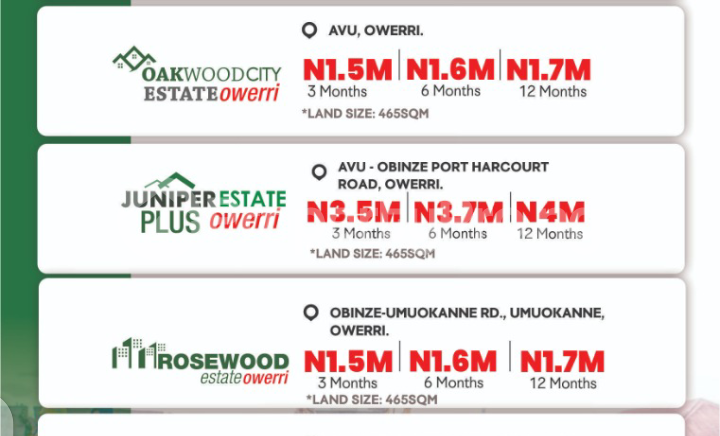 Residential Land Land for sale Obinze, Avu, Owerri Imo - 0