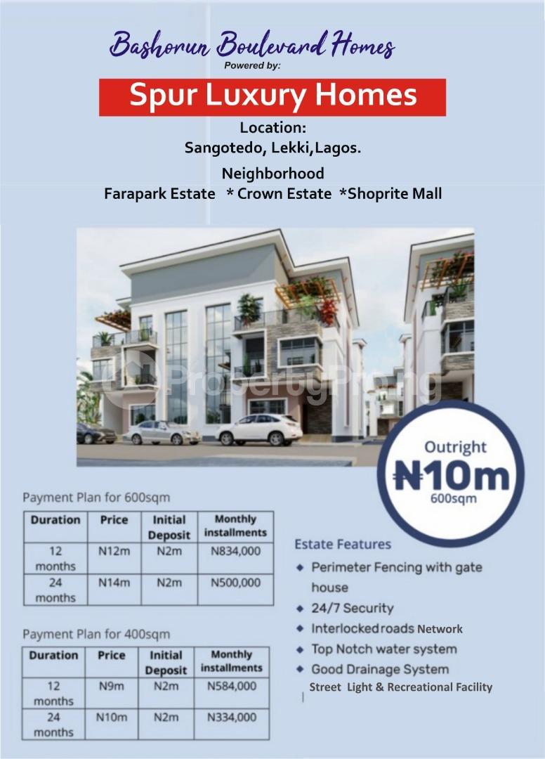 Mixed   Use Land for sale Opp. Fara Park Estate, Off Lekki Epe Expressway Sangotedo Ajah Lagos - 11