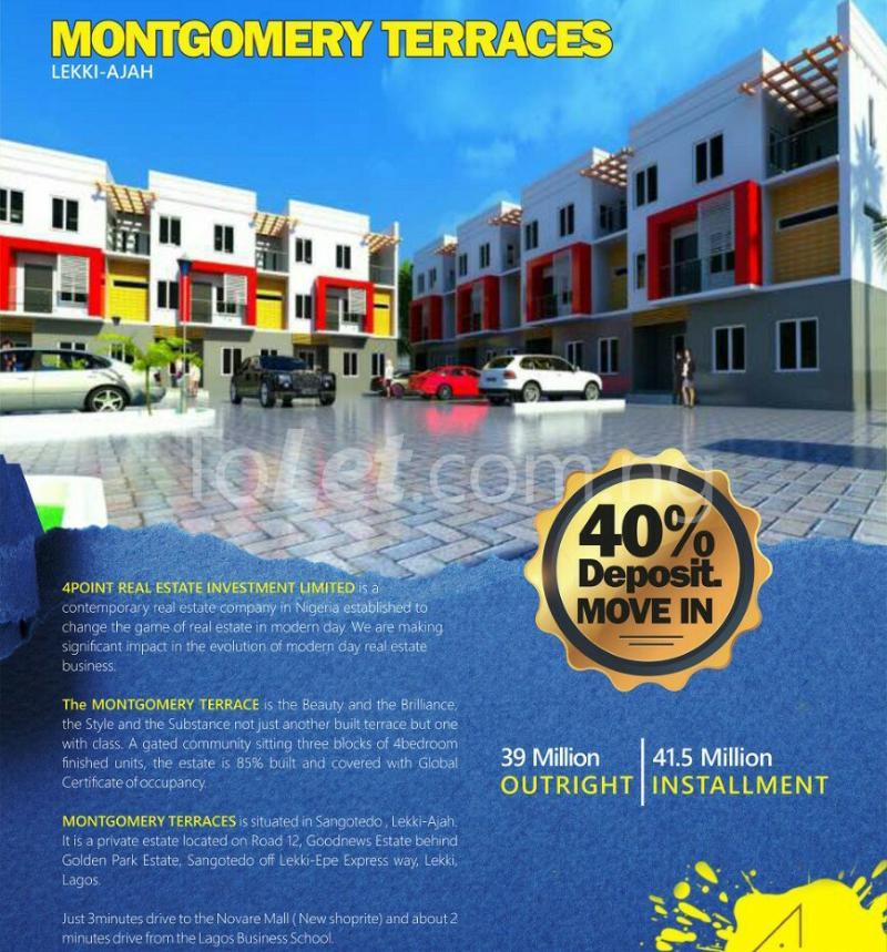 4 bedroom House for sale Montgomery Estate, near Golden park Estate, Sangotedo Majek Sangotedo Lagos - 4