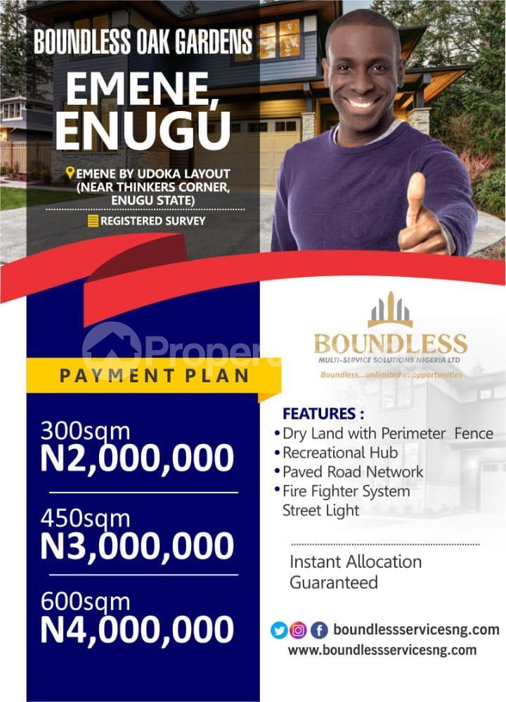 Residential Land for sale By Udoka Layout (near Thinkers Corner, Enugu State) Enugu Enugu - 0
