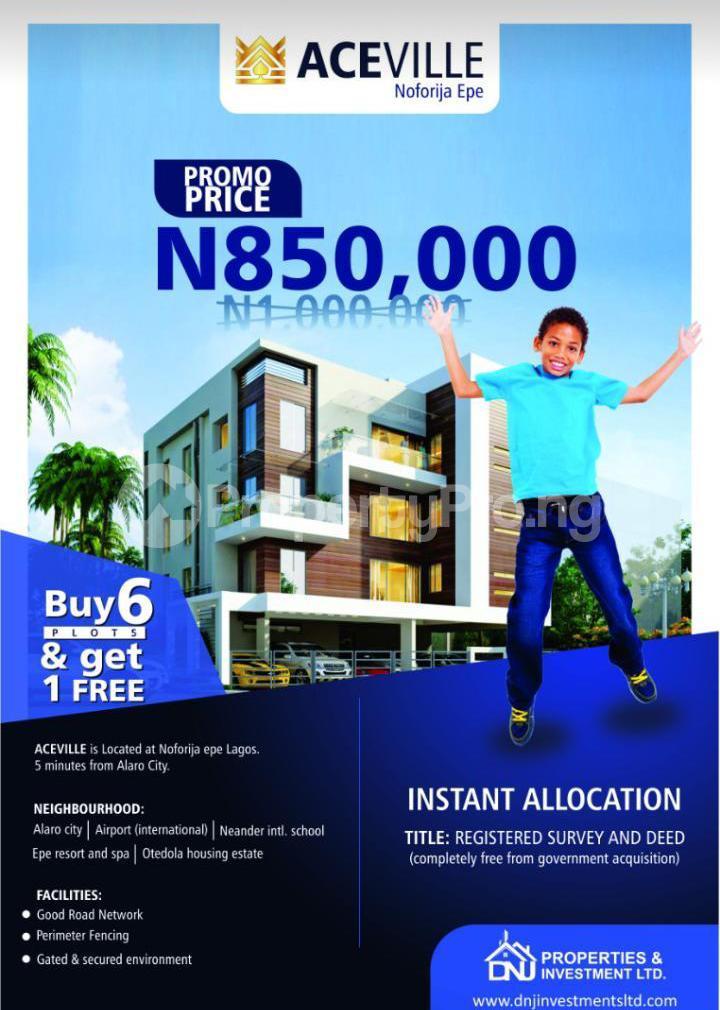 Residential Land Land for sale Noforija Epe Lagos - 0