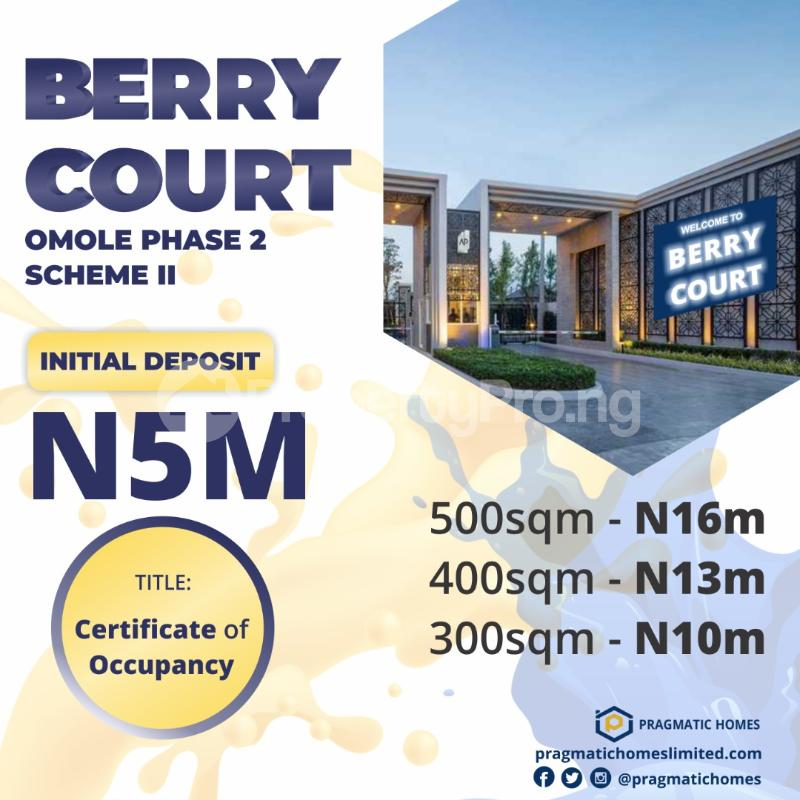 Residential Land Land for sale Berry Court Omole phase 2 Ojodu Lagos - 3