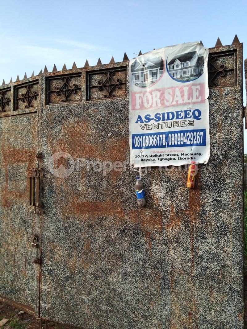 1 bedroom mini flat  Residential Land Land for sale Road 4 House 17 Agunfoye Bustop Along Igbogbo Road Ikorodu Igbogbo Ikorodu Lagos - 1