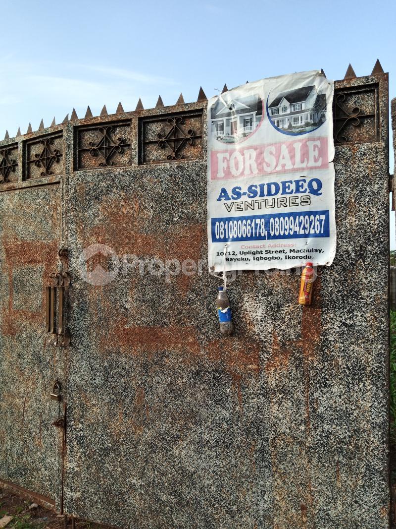 1 bedroom mini flat  Residential Land Land for sale Road 4 House 17 Agunfoye Bustop Along Igbogbo Road Ikorodu Igbogbo Ikorodu Lagos - 0