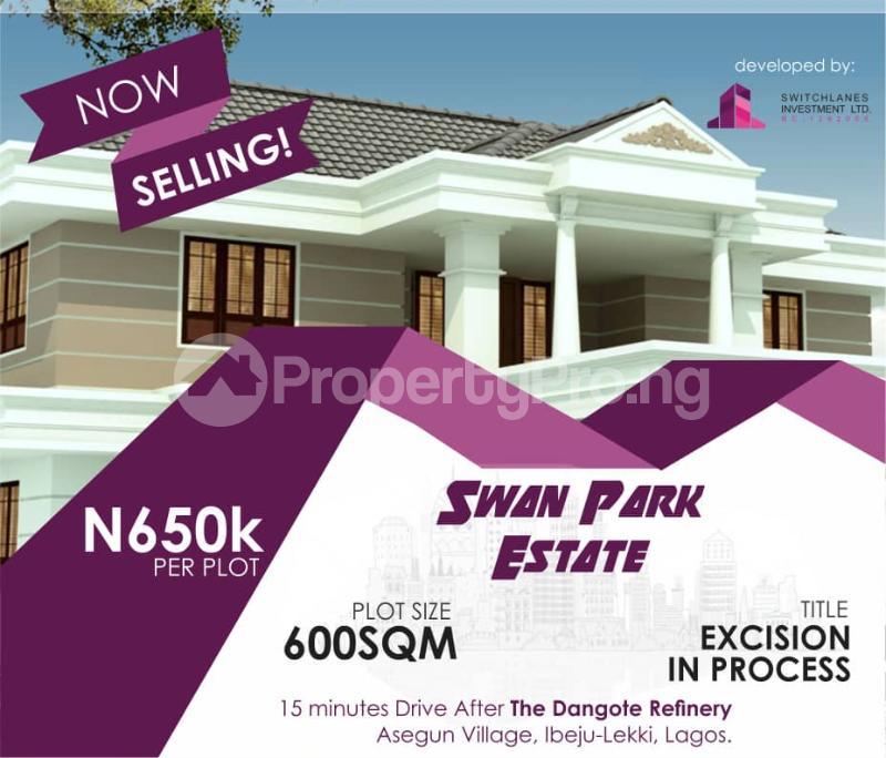 Commercial Land for sale Asegun Town, Swan Park Estate LaCampaigne Tropicana Ibeju-Lekki Lagos - 2