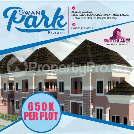 Commercial Land for sale Asegun Town, Swan Park Estate LaCampaigne Tropicana Ibeju-Lekki Lagos - 1