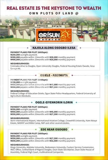 Land for sale KAJOLA Ilesha West Osun - 0