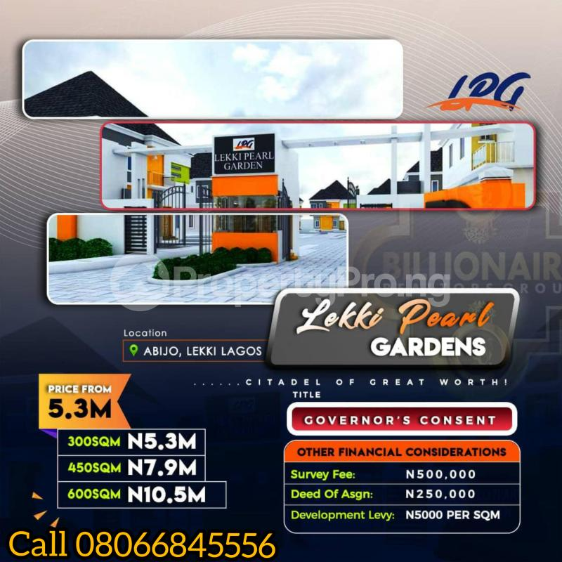 Serviced Residential Land Land for sale 1 minute drive from Lekki Epe Expressway Abijo Ajah Lagos - 2