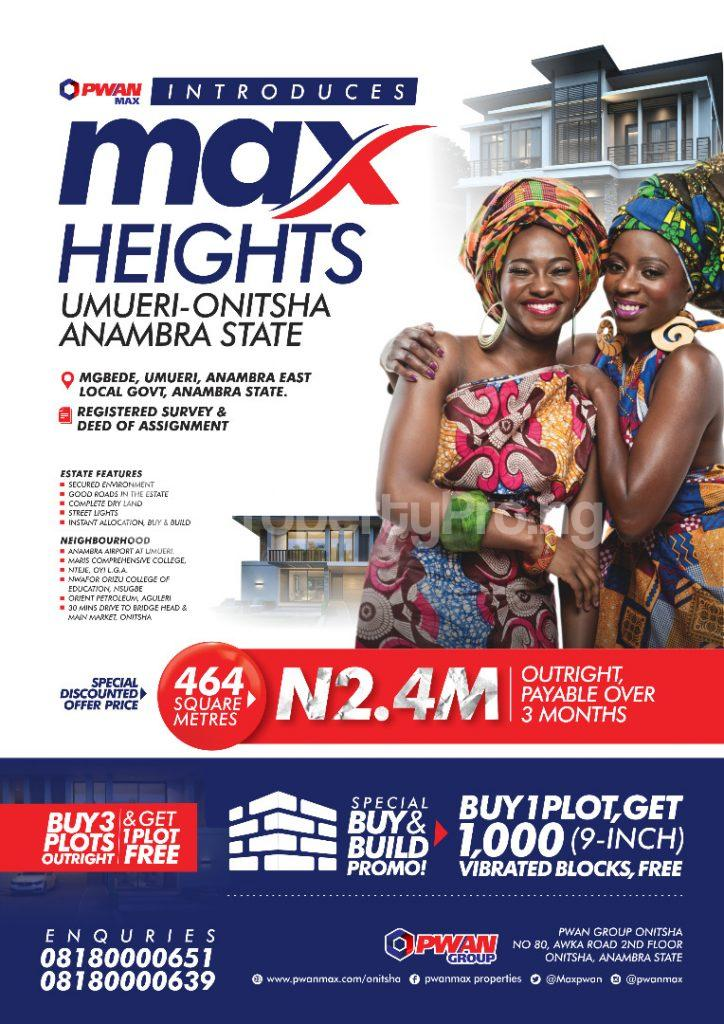 Commercial Land Land for sale Max Height Estate Umuleri Onitsha Anambra East Anambra - 0