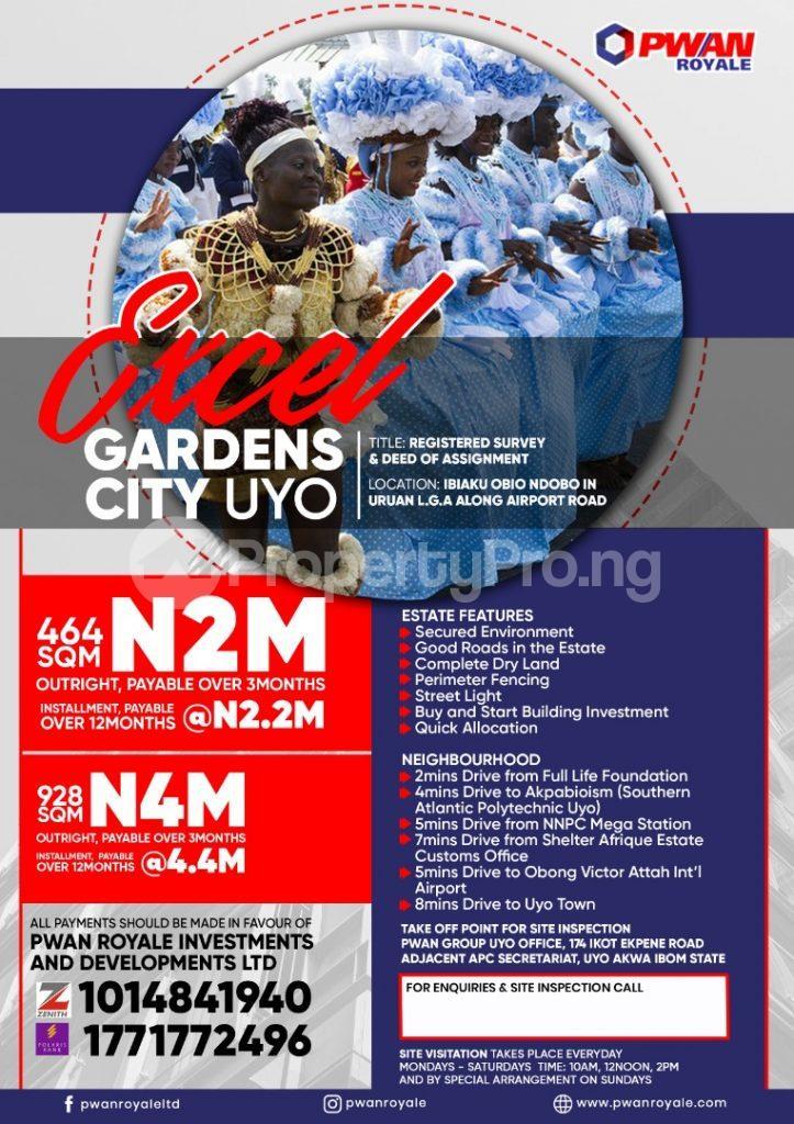 Residential Land Land for sale Excel Garden City Ibiaku Obio Ndobo Uruan Akwa Ibom - 0