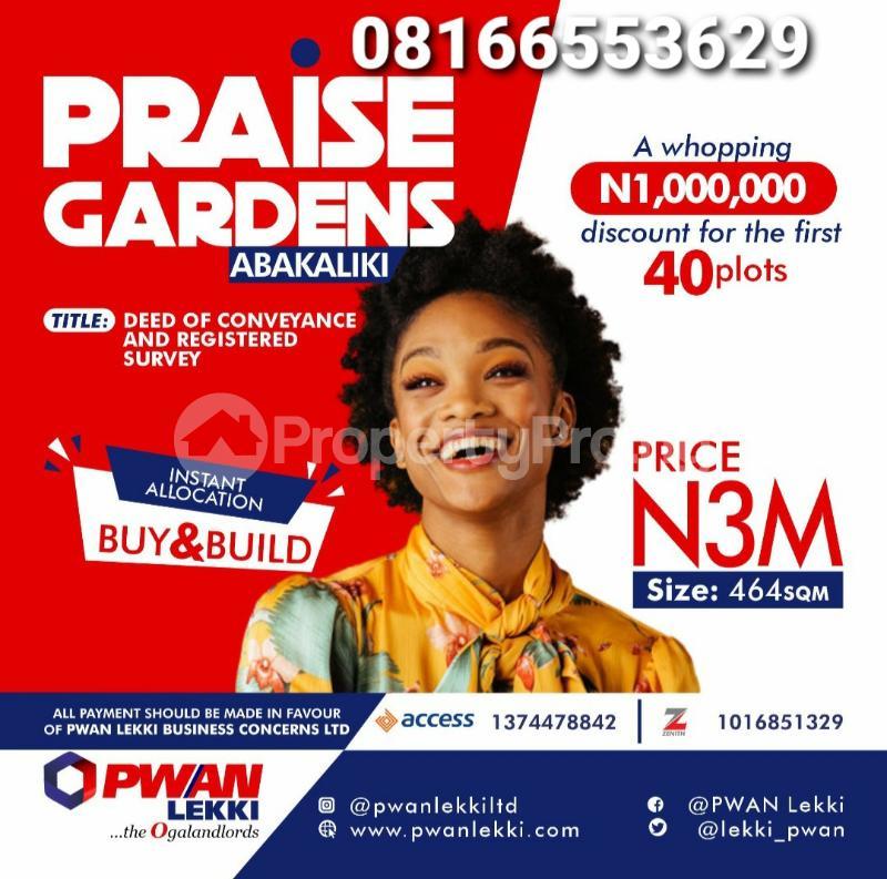 Serviced Residential Land Land for sale Abakaliki Ebonyi - 0