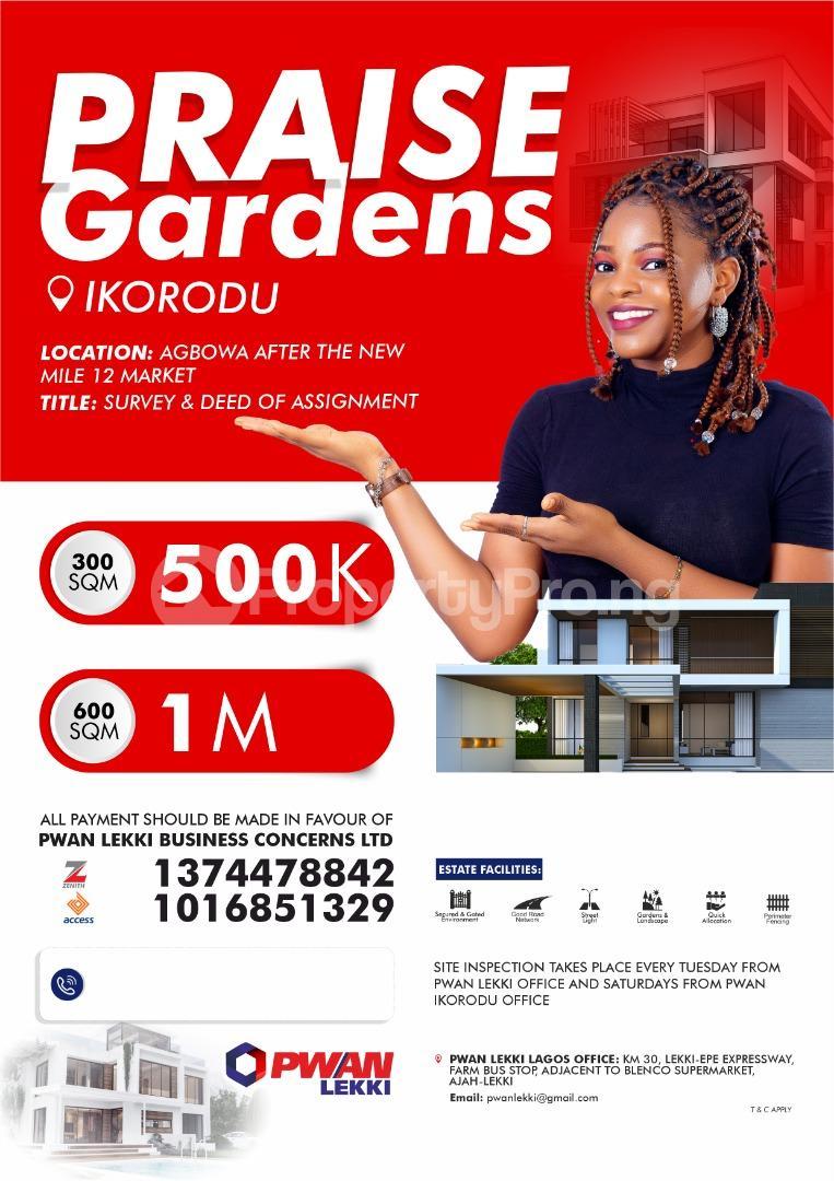 Mixed   Use Land Land for sale Agbowa new mile 12 market Ikorodu Lagos - 0