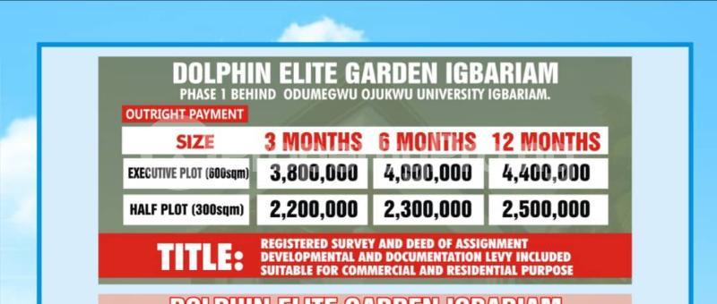 Land for sale Igbariam Phase 1 Oyi Anambra - 0