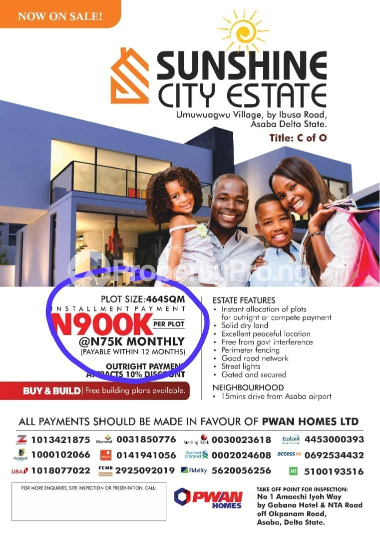 Mixed   Use Land Land for sale 10 Minutes away from the Asaba International Airport.    Asaba Delta - 3